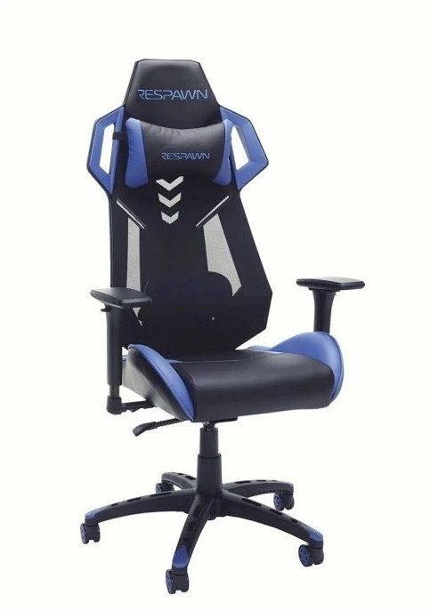 En svart och blå spelstol Respawn 200