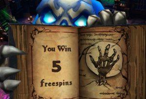 En spellbook av vinsten i Necromancer slot