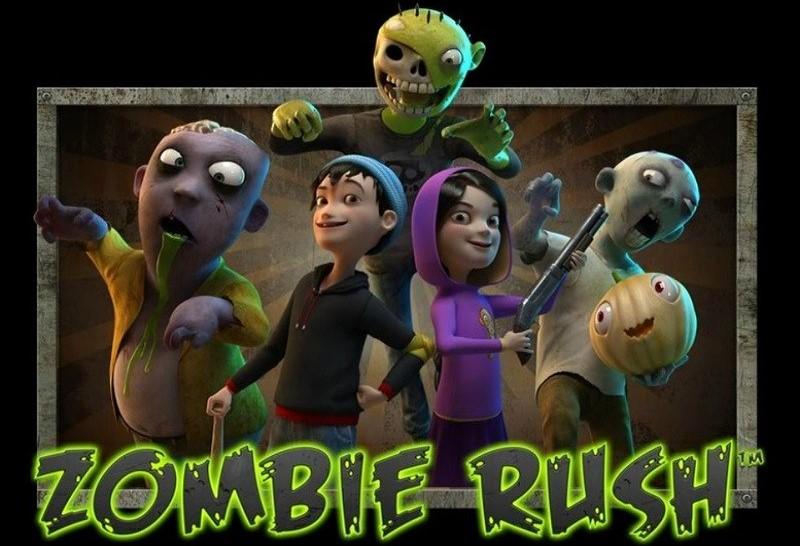 Zombies och hjältar av spelautomaten Zombie Rush