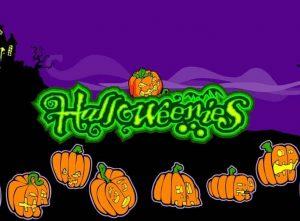 Arg pumpor och logotyp Halloweenies online gratis slot