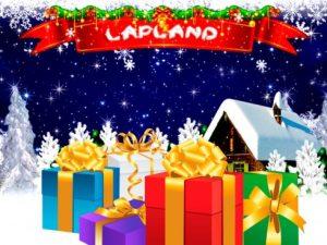 Presenterar och logotyp Lapland spelautomater