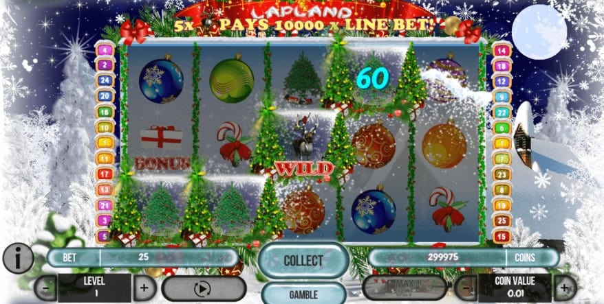 Bonusfunktioner i Lapland online jul slot