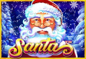 Logo av Santa online jul slot spel
