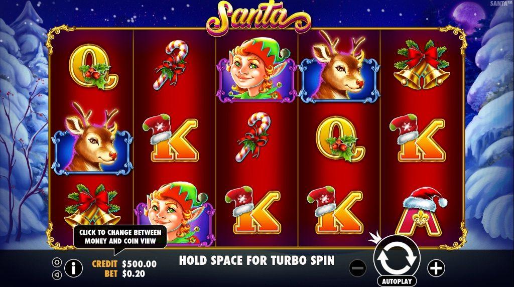 Spelet Santa online slot Jul