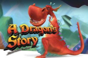 Röd drake på logotypen för A Dragon's Story Slot