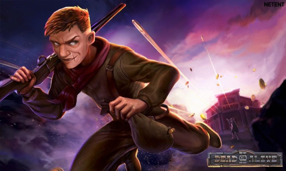 En av karaktärerna i Döda eller Levande 2 online video slot från NetEnt