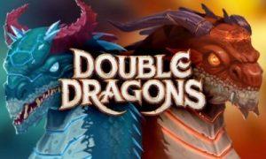 Blå och orange drakar finns på logotypen för Double Dragons Slot