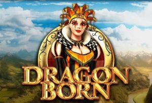 En logotyp för Dragon Born Slot Spel
