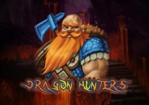 En jägare med ett ess på logotypen för Dragon Hunter Spelautomat