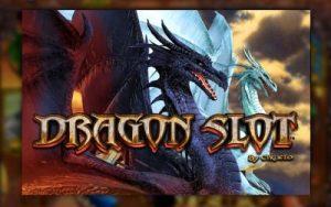 Två drakar finns på logotypen för Dragon Slot