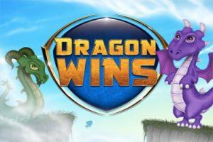En logotyp med drakar för Dragon Wins Slot