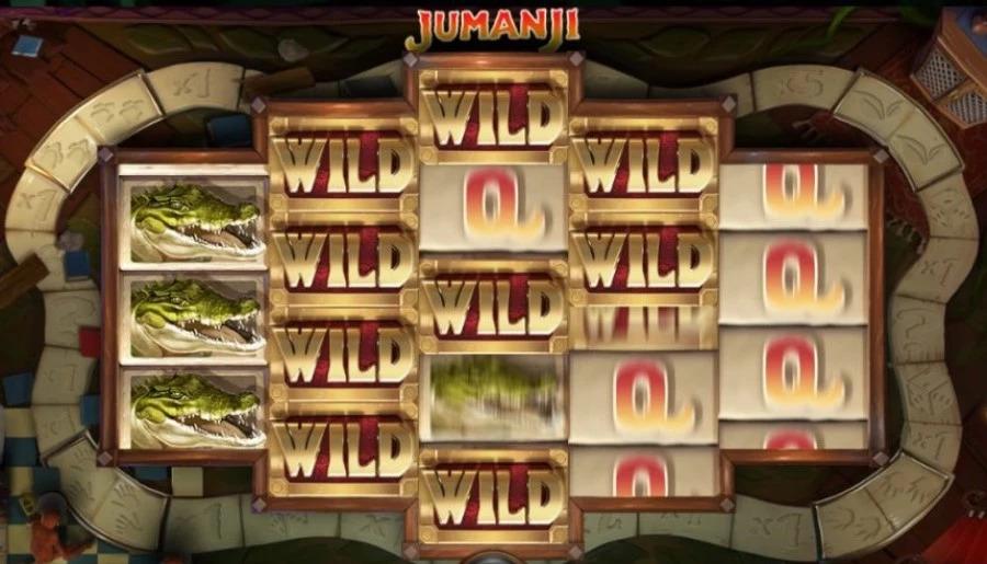 Wild-funktioner i Jumanji online video slot från NetEnt