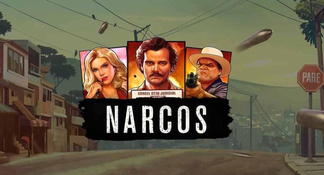 Logotypen för Narcos NetEnt online video slot från NetEnt